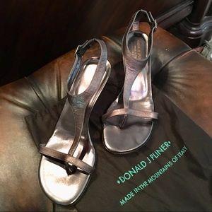 Donald Pliner Metallic Leather Viana Sandals